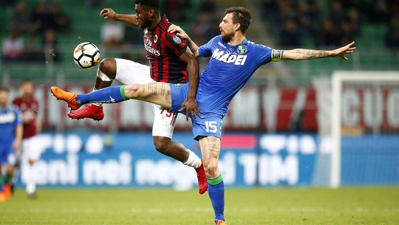 Serie A Milan-Sassuolo 1-1, il tabellino