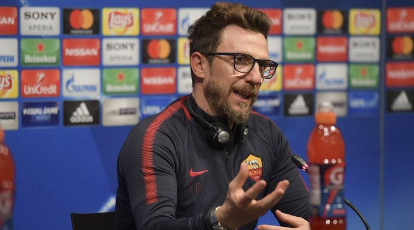Champions League, Di Francesco: «In campo i migliori, il miracolo si può fare»