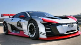 Audi e-tron Vision Gran Turismo, il super prototipo elettrico debutta a Roma