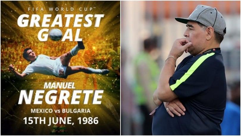 Il gol più bello dei Mondiali? Per la Fifa non è di Maradona