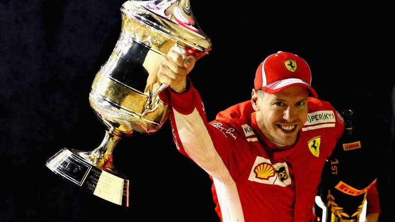 F1 Ferrari, Vettel: «Penso ai 7 titoli di Schumacher»