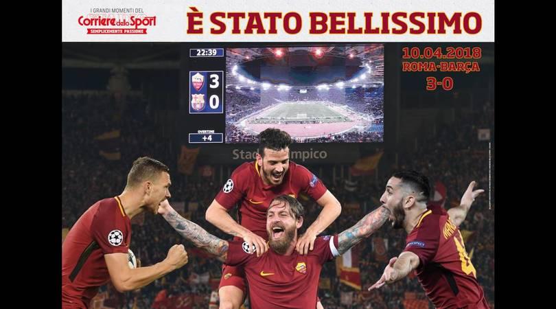 «E' stato bellissimo»: oggi in regalo il poster della Roma