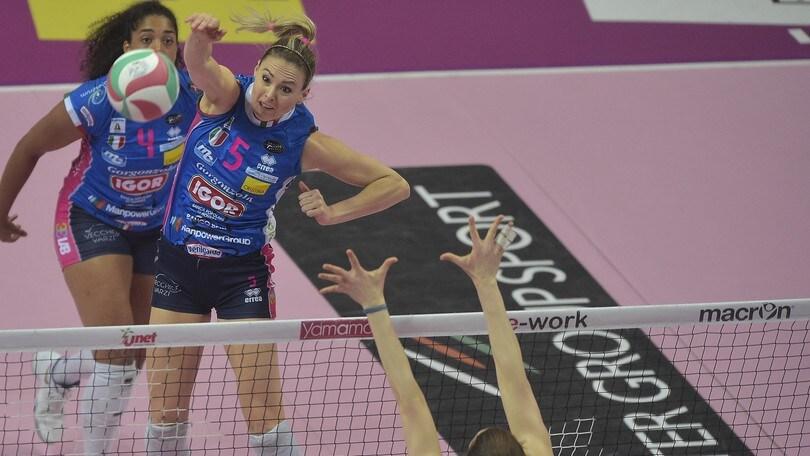 Volley: A1 Femminile, Semifinali Play Off, Novara non fa sconti e vola in finale