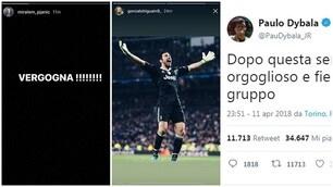 Rabbia e orgoglio, le reazioni social dei giocatori della Juventus