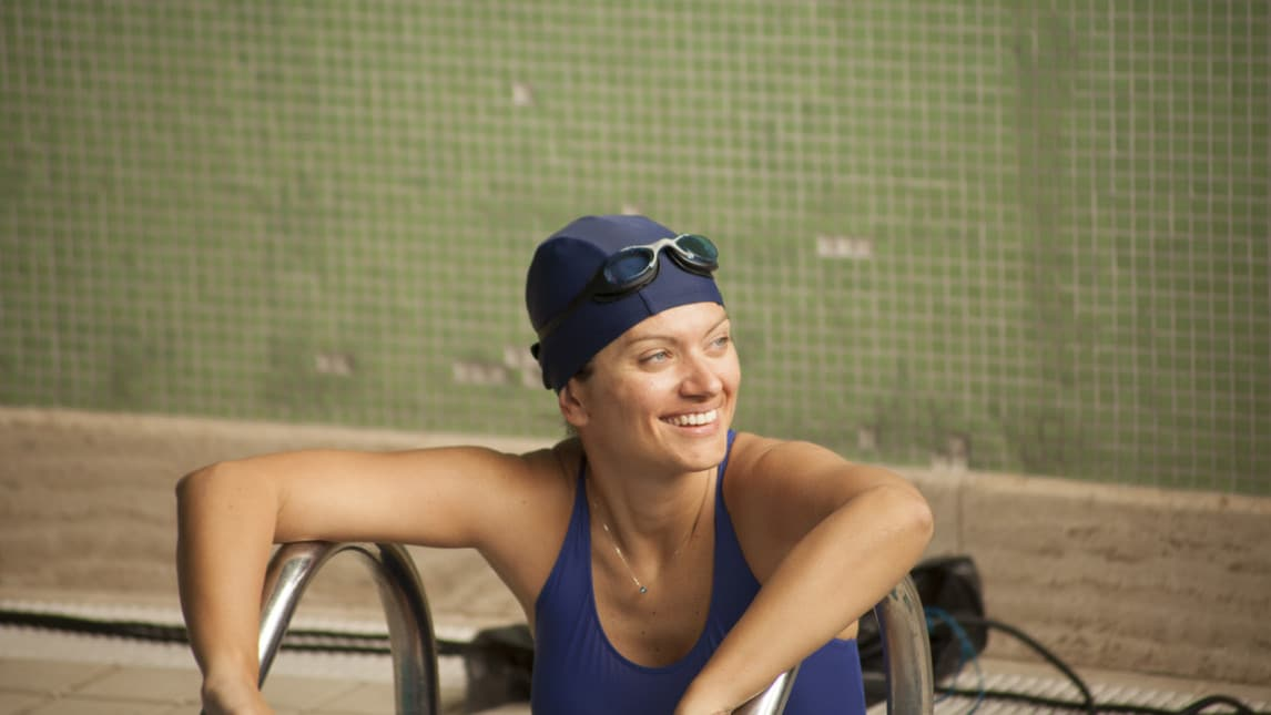 Sport, volontariato, entusiasmo travolgente, tante idee e una passione innata per il nuoto. le foto del back stage di Cristina Guidi, uno dei tre volti della campagna #SMuoviti realizzata per i cinquant'anni di AISM