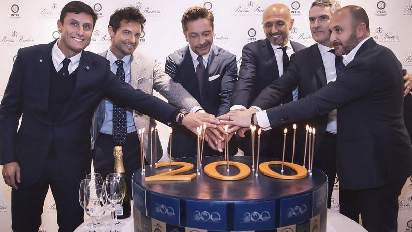 L'Inter al compleanno di Brooks Brothers