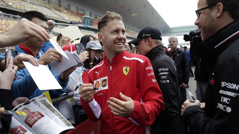 F1 Cina, Vettel: «Cercheremo di vincere, dopo questa gara avremo un quadro più chiaro»