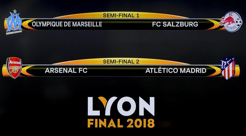 Europa League: Marsiglia-Salisburgo e Arsenal-Atletico Madrid le semifinali