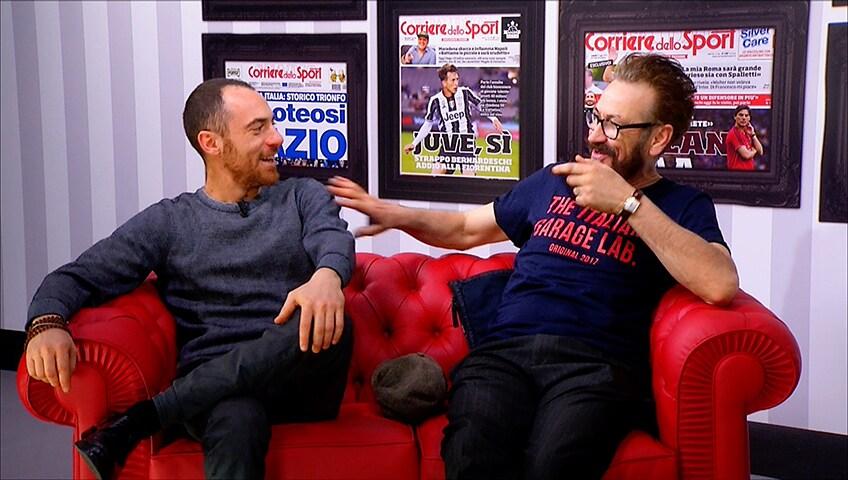 Marco Giallini e Elio Germano: «Roma in semifinale di Champions, non chiamiamola impresa»