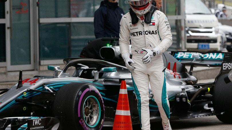 F1 Cina, Hamilton: «La Ferrari è stata più forte»