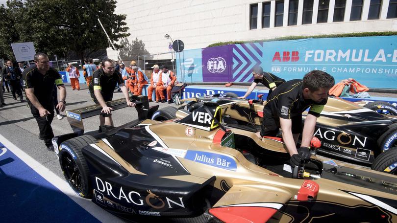 Formula E: esordio Roma, bolidi in pista