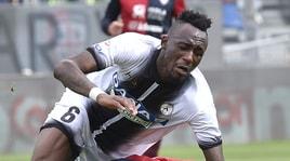 Cagliari-Udinese, Fofana vomita in campo