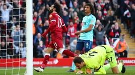 Liverpool-Bournemouth 3-0: i 'Reds' calano il tris con Mané, Salah e Firmino