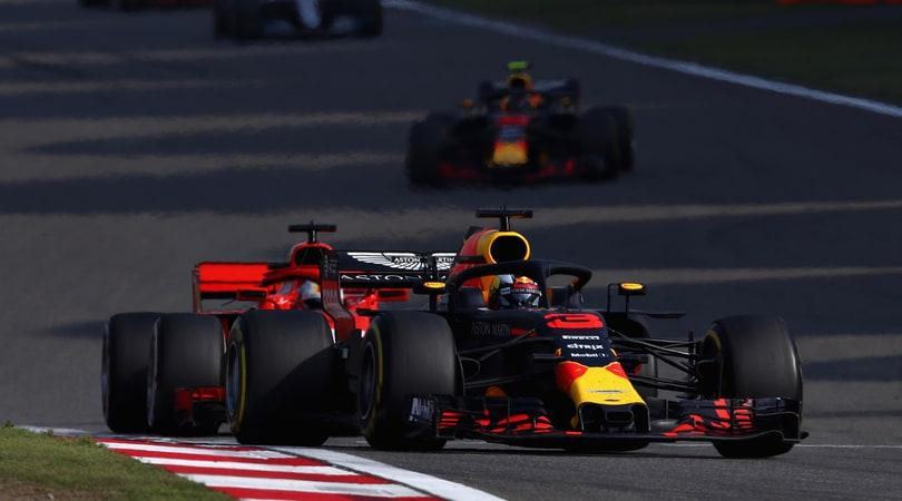 F1 Cina: Ricciardo vola davanti a tutti, Vettel 8°