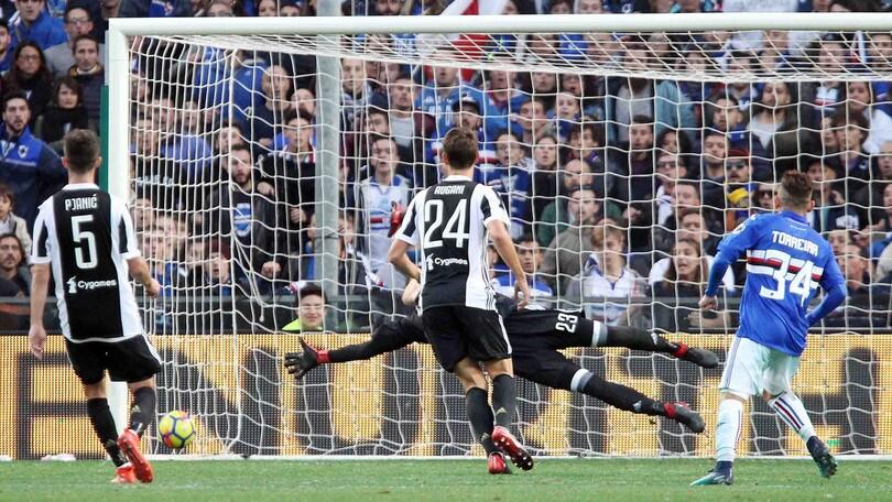 Serie A Juventus-Sampdoria, formazioni ufficiali e tempo reale alle 18. Dove vederla in tv