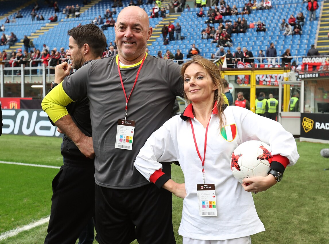 La spice girl Geri Horner e l'ex Liverpool Grobbelaar a San Siro