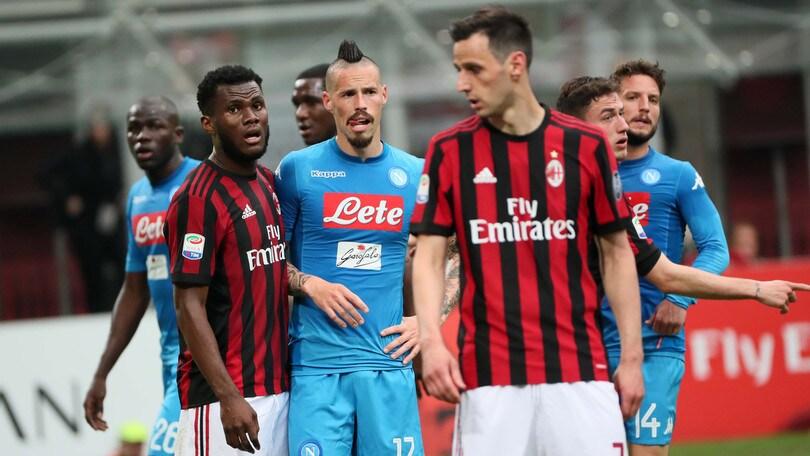 Serie A Milan-Napoli 0-0, il tabellino