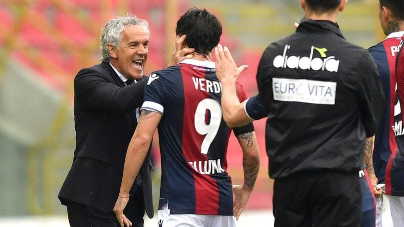 Serie A Bologna, Donadoni elogia Verdi: «Un gol straordinario»