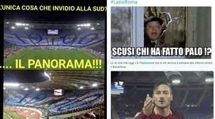 Lazio-Roma, il derby visto dai social
