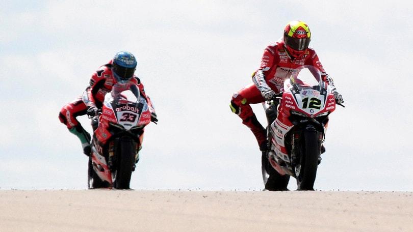Superbike Aragon, Melandri: «Il terzo posto va bene, ma non è quello che volevo»