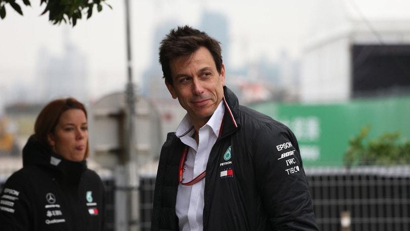 F1 Cina, Wolff: «Siamo stati la terza forza»