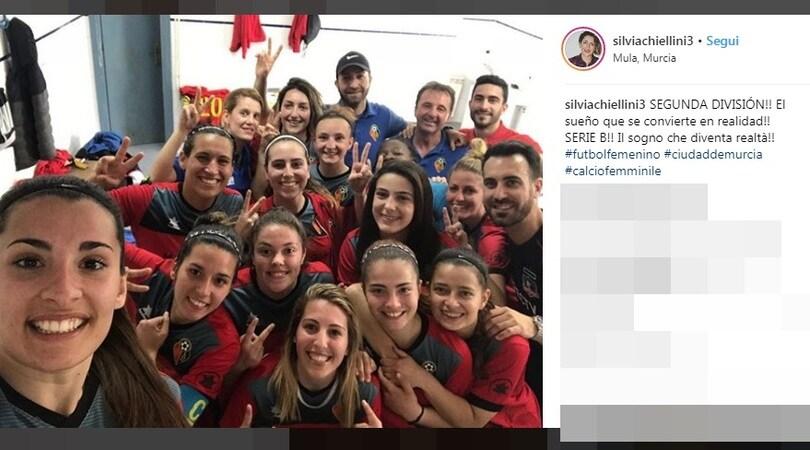 Silvia Chiellini festeggia la promozione in Spagna!