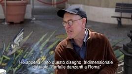 Castel Romano, ecco le farfalle danzanti di Julian Beever