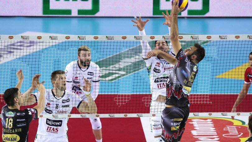 Volley: Semifinali Play Off, domani sera Perugia e Trento si giocano l'accesso in finale