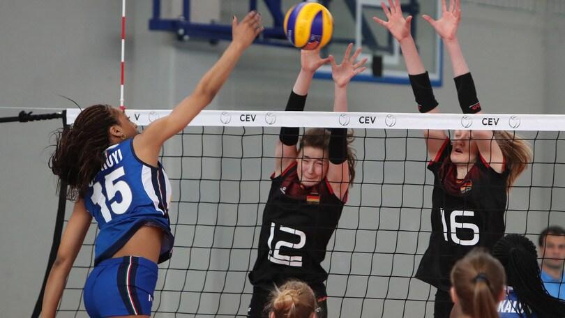 Volley: Europei Under 17, le azzurre battono la Germania e vincono la Pool