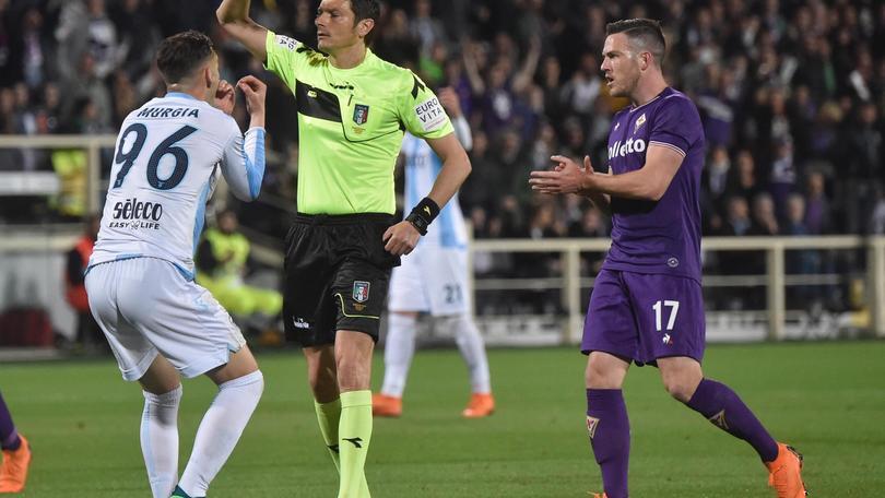 Fiorentina-Lazio, due espulsioni in 14'