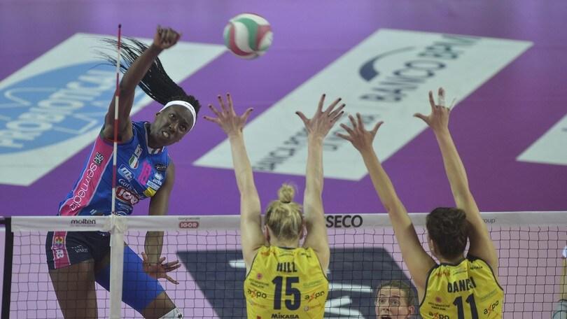 Volley: A1 Femminile, nel primo round della finale Novara travolge Conegliano