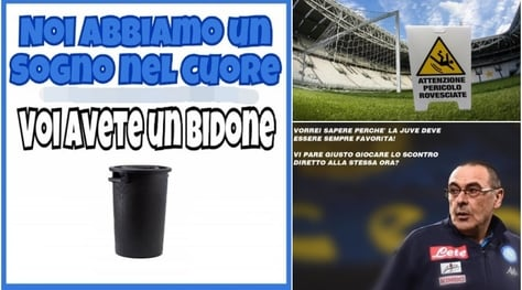 Juventus-Napoli alle porte: i social sono già in clima partita