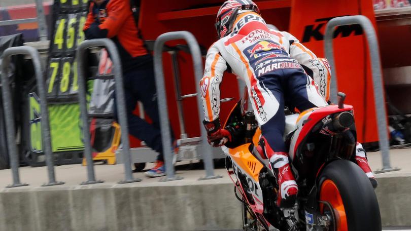 Moto: Gp Americhe, tolta pole a Marquez