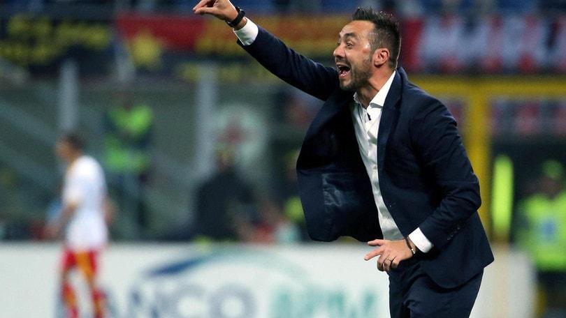 Serie A Benevento, De Zerbi: «Vittoria che resterà nella storia»