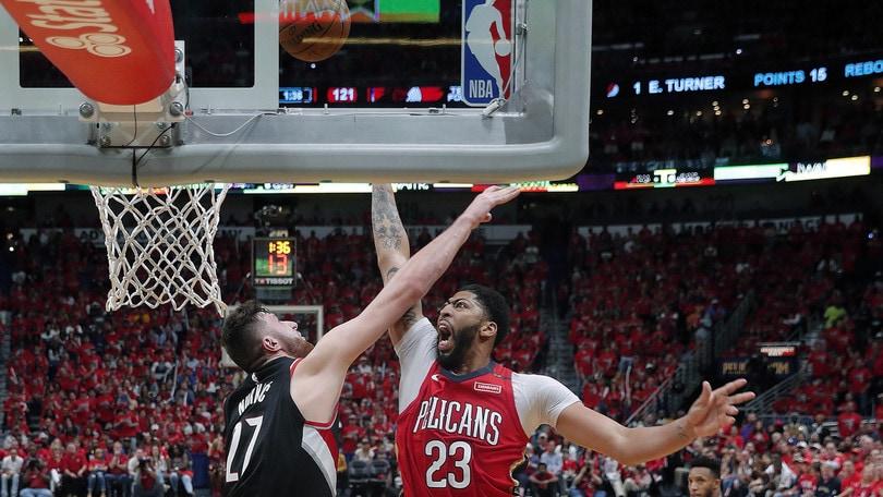 Davis spazza via Portland, è 4-0 Pelicans