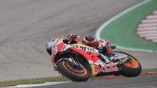 MotoGp Usa: Marquez davanti a tutti nel warm up, Rossi 11°