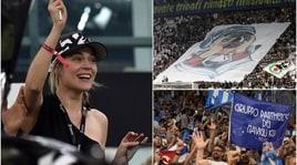 Juventus-Napoli: lo spettacolo sugli spalti. E Laura Chiatti si scatena in tribuna