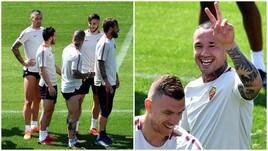 Roma, tanti sorrisi in allenamento e concentrazione al massimo verso il Liverpool