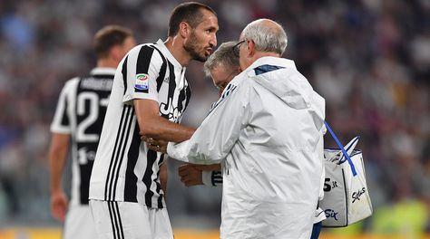 Juventus, Chiellini salta l'Inter: lesione al bicipite femorale