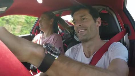 Sharapova e Webber, una coppia al volante