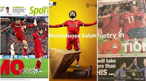 Champions, i tabloid pazzi di Salah: 10 in pagella!