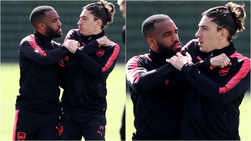 Tensione Arsenal: Lacazette e Bellerin litigano in allenamento