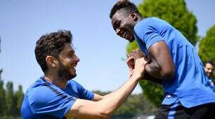 Inter, Ranocchia prova a fare il solletico a Karamoh?