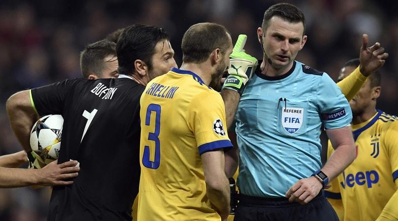 Real Madrid-Juventus, parla l'arbitro Oliver: «Commovente il supporto della gente»