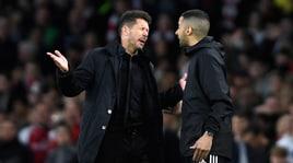 Arsenal-Atletico Madrid: Simeone all'arbitro: «Hijo de .... ». E Turpin lo allontana