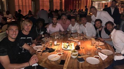 Lazio, patto per la Champions. Cena al centro di Roma