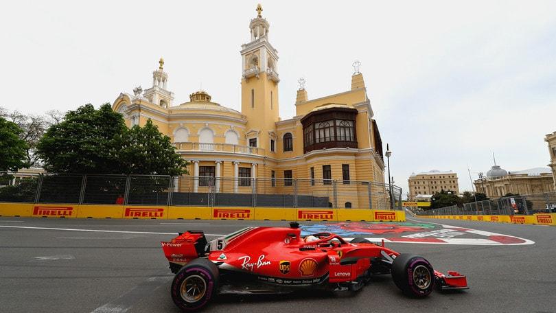 F1 Azerbaijan, Libere 3: Vettel è il più veloce, Hamilton 2°