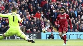 Premier League, Liverpool-Stoke 0-0: Salah resta a secco