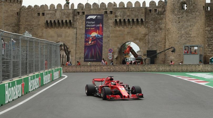 F1, griglia di partenza Gp Azerbaijan: Vettel in pole, Raikkonen 6°