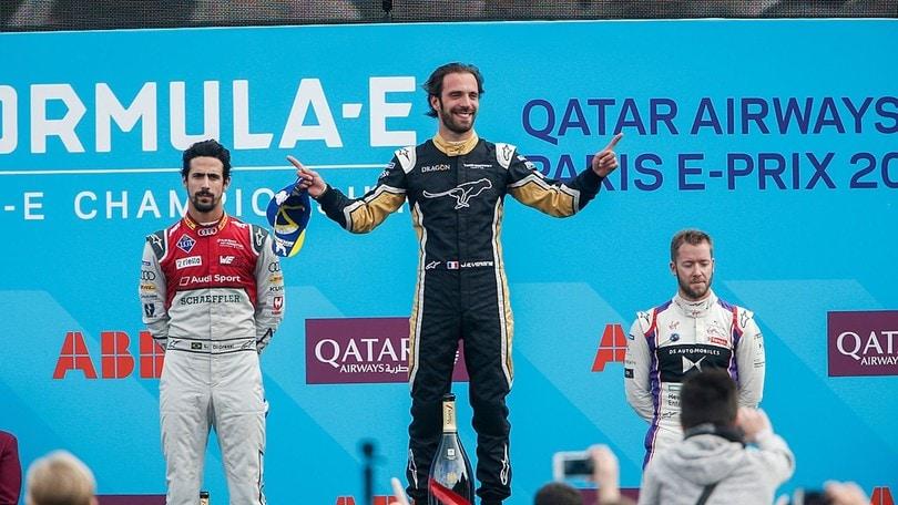 Formula E Parigi, Vergne vince in casa ed è sempre più leader